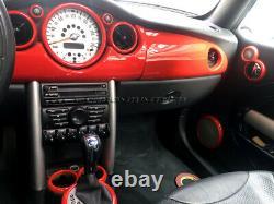 2001-2006 Bmw Mini Cooper / S / One R50 R52 R53 Interior Red Dial Border Kit