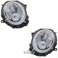2 Headlamp Mini R55 R56 R57 R58 R59 10 / 2006-11 / 2013 Driver + Passenger Bl + M