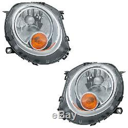 2 Headlights Mini R55 R56 R57 After 10/2006 Optics Gold Left + Right