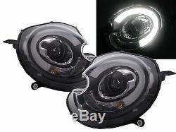 2 Lights Led Headlight Bmw & Mini Cooper Mini One R55 R56 R57 11/2006 02/2010