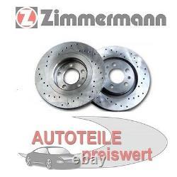 2 Zimmermann Brake Discs Sport Front For Mini R50 R52 R53