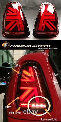 2nd Generation 3d Red Union Jack Fire Back For Mk2 Mini Cooper/s R56 R57