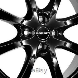 4 Wheels Borbet Lv4 7.0x17 Et38 4x100 Sw For Mini Convertible Clubman Cup O