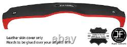 Black & Red Borderboard Leather Cover For Mini R50 R53 01-06 Style 2