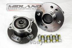 Bmw Mini 2001-06 R50 R52 R53 Petrol And Diesel Pair Of Rear Wheel New Hub