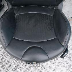 Bmw Mini Cooper 1 R56 Sport Completely Black Leather Interior Seats With