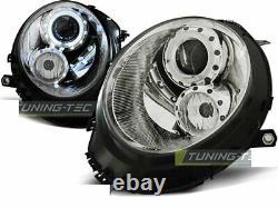 Fényszórók Mini Cooper R55 R56 R57 R58 R59 06-14 Angel Eyes Chrome Lpmc05ez Xino