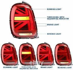 For Mini Cooper F55 F56 F57 2014-2018 Led Dynamic Union Jack Taillights