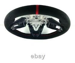 Genuine Bmw Mini Jcw Black Red Alcantara Steering Wheel (for Manual Speed)
