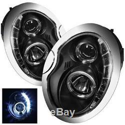 Headlights With Daytime Running Light Optics Mini R50 / R52 / R53 (01-04) Pair Lights