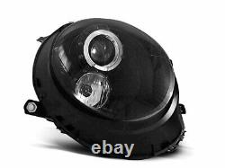 Hlavný Svetlomet For Mini Cooper R55 R56 R57 R58 R59 06-14 Angel Eyes Black Lpm
