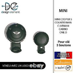 Key Shell 3 Buttons Mini Countryman Cooper S One D Clubman Cabrio