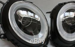 Led Crutch Headlight Set Bmw Mini Cooper R55 Black Led Turn Signals
