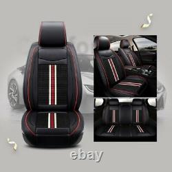 Luxury Ultra Premium Black Pu Leather - Complete Set Fabric Seat Coussin Covers