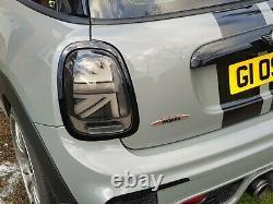 Mini Black Led Union Jack Rear Lights F55 Cooper S, Jcw 2014 2021
