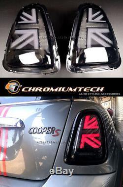 Mini Cooper Mk2 / S R56 R57 R58 R59 3d Black Union Jack Tail Pre-lci