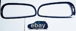 Mini F54 Clubman Front & Rear Light Covers Black Shining Head & Fire Edges