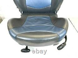 Mini Front Opportunity Black Left - Complete Blue Leather Sports Seat R50 R53