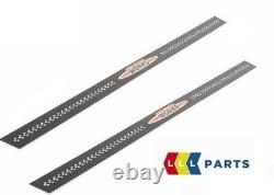 Mini New True R55 R56 R57 R58 R58 Jc59 Jcw Black Metal Door Entry Band Pair
