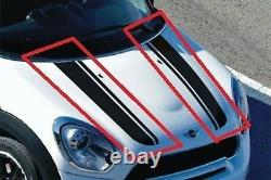 Mini New True R60 R61 Hood Stripe Stripe Pair Sticker Black Left