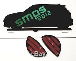 Mini R56 Front Lighthouse & Tail Light Covers Piano Black Gloss