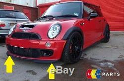 New Original Mini R50 R52 S R53 Jcw Gp Front Bumper Spoiler Black 7182622