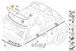 Nine D'origine Mini R52 R57 Convertible Top Flyscreen Panel Cover 7200293