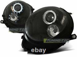 Nou Faruri Pentru For Mini Cooper R55 R56 R57 R58 R59 06-14 Angel Eyes Negru En