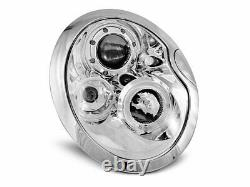 Offer Pair Headlights For Bmw For Mini Cooper R50 R52 R53 01-06 Halo Rims Chro