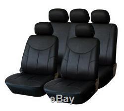 Premium Leather / Imitation Car Seat Cover Vehicle Black Kit For Several