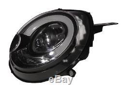 R52 R55 R56 R57 R58 R59 06-13 Halogen Project Front Lights Headlight Bk For Mini Lhd