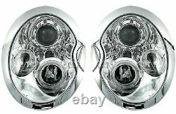 Scheinwerfer Für Bmw Mini Cooper R50 R52 R53 2001-2006 Standlichtringen Chrom En