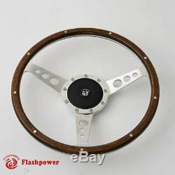 Steering Wheel Classic 13 '' To Restore Wooden Vintage Ford Gt Mgb Midget Ac