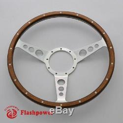 Steering Wheel Classic 13 '' To Restore Wooden Vintage Gt Mga Mgb Midget Ac