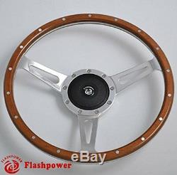 Steering Wheel Classic 13 '' Wood For Restoration Vintage Gt Mgb Midget Derrington
