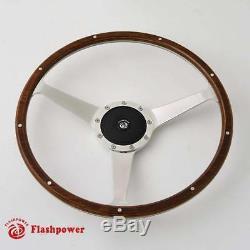 Steering Wheel Classic 16 '' Wood For Restoration Mg Triumph Jaguar