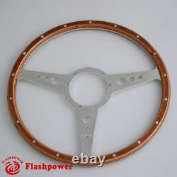 Steering Wheel Classic 16 '' Wood For Restoration Vintage Gt Mgb Midget Derrington