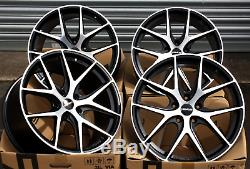 18 NOVUS 01 Roues Alliage Noir Diamant Coupe Concave Débit Forme Léger