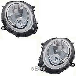 2 Phare Avant Mini R55 R56 R57 10/2006-up Feux Optique Bl Conducteur + Passager