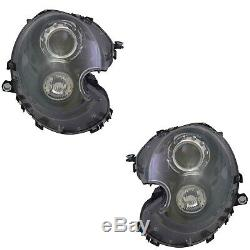 2 Phare Mini R55 R56 R57 R58 R59 10/2006-11/2013 Conducteur Passager Xenon Noir