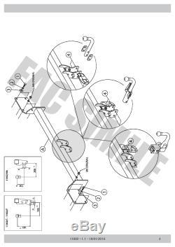 Attelage Col Cygne 7Br pour Mini Clubman R55 Berline 3-5 p 07-15 11002/F E1