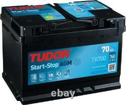 Batterie Tudor Start-Stop AGM 70Ah/760A (TK700)
