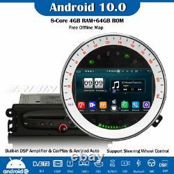 DSP DAB+Android 10.0 Autoradio Navi CarPlay Wifi For BMW Mini Cooper Navi 8-Core