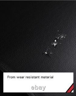 De Luxe Ultra Premium Noir PU Cuir & Tissu Set Complet Siège Housses Coussin