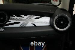 Habitacle Intérieur Union Jack Blanc Pour Mini One Cooper R55 R56 R57 58 59