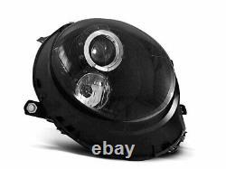 Hlavný svetlomet pour Mini COOPER R55 R56 R57 R58 R59 06-14 Angel Eyes Black LPM