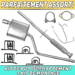 Kit pot déchappement Silencieux MINI Cooper One R50 R52 R53 1.6i Hayon Cabrio