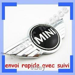 Logo embleme Chromé MINI ONE COOPER MÉTALLIQUE CAPOT COFFRE envoi suivi