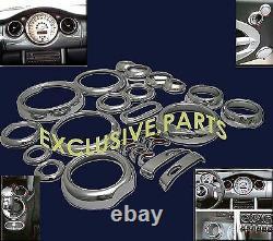 MINI ONE COOPER S D R50 R53 2001-11/2006R52-03/2009 Chrome INTERIEUR SET NEUF