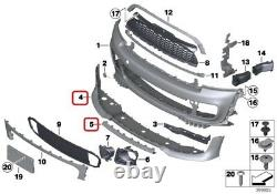 Mini Neuf Véritable R56 R57 R55 LCI Jcw Aéro Avant Pare-Choc Spoiler Avec Centre